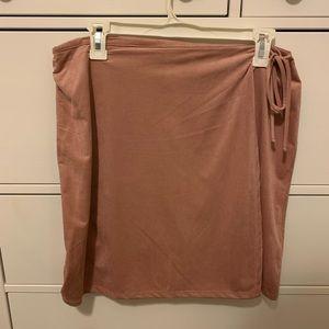 Light Pink Suede Wrap Skirt 💕